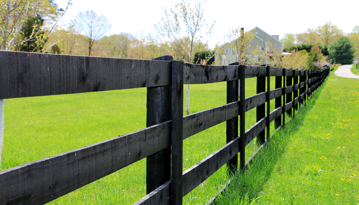 Fence building and painting by Reston Painting & Contracting in Northern Virginia