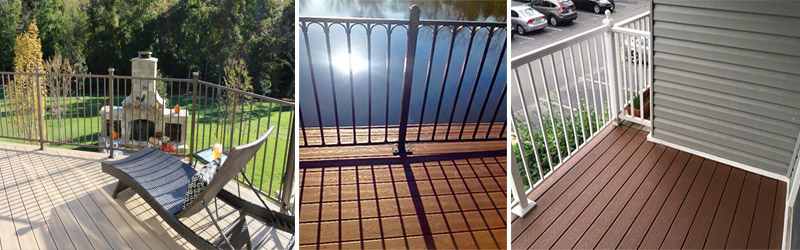 Deck replacements by Reston Painting & Contracting using Trex Transcend