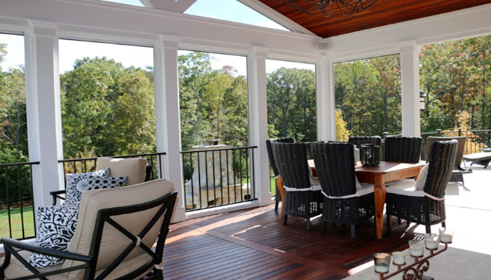 Deck and porch by Reston Painting & Contracting