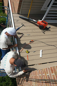 Porch restoration in Falls Church by Reston Painting & Contracting