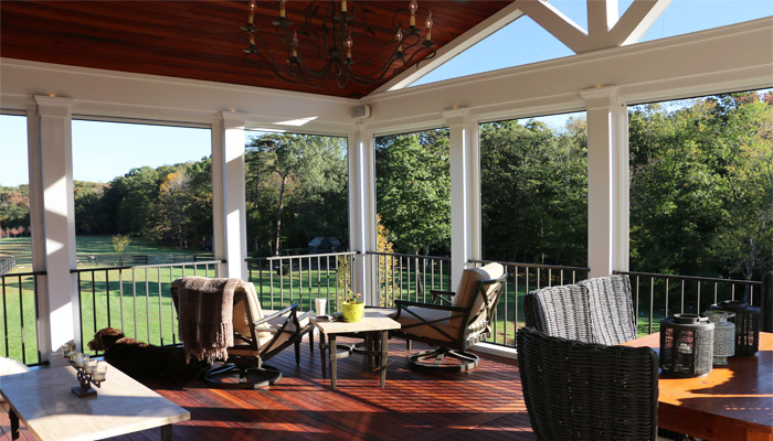 Deck and screened porch in Great Falls by Reston Painting & Contracting