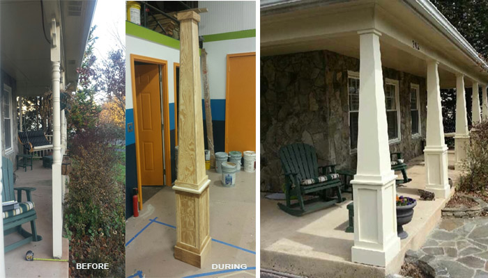 Custom Columns in Sterling by Reston Painting & Contracting